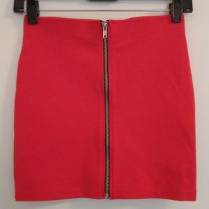 Divided by H&M Zipper Front Mini Skirt Size XS